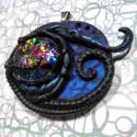 Biomech galaxy pendant