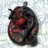 Pendentif tentacule cellule parasite  sang rouge et noir biomech bio-mécanique