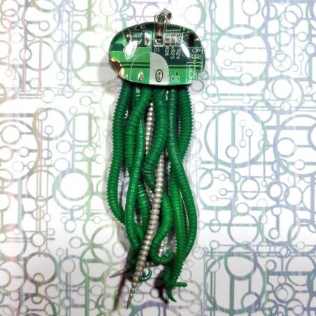 collier méduse  circuit imprimé vert biomeca