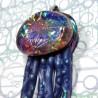bijou méduse  bleu  psychédélique