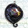 bijou  biomeca tentacule noir irisé biomech