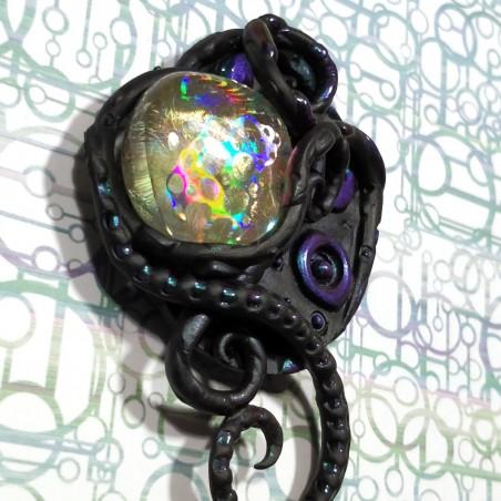 Biomech human eye pendant