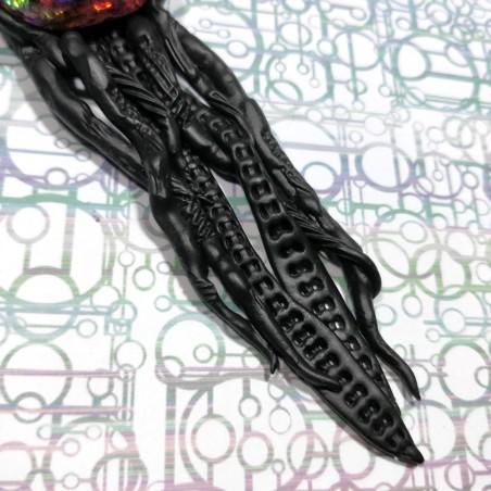 Pendentif méduse noire  boréal biomech biomeca biomecanic