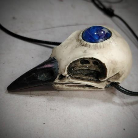 collier crâne corbeau, trois yeux, univers