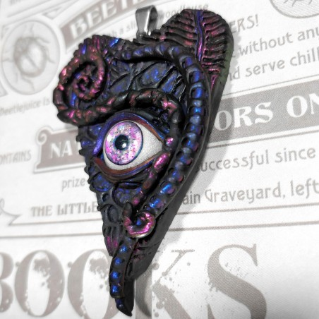 Pendentif goutte ouija oui-ja oeil mystique ésotérique tentacule