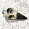 pendentif crâne corbeau, sphère psychique mystique ésotérique divination