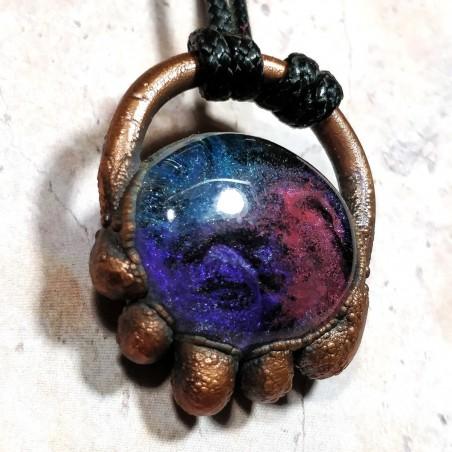 Pendentif méduse cuivre  nébuleuse galaxie galaxy pieuvre poulpe octopus