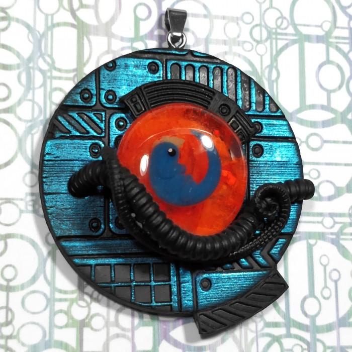 biomech embryo pendant